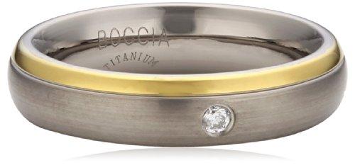 Boccia Damen-Ring Titan teilvergoldet Diamant (0.03 ct) Brillantschliff weiß Gr. 55 (17.5) - 0130-1255