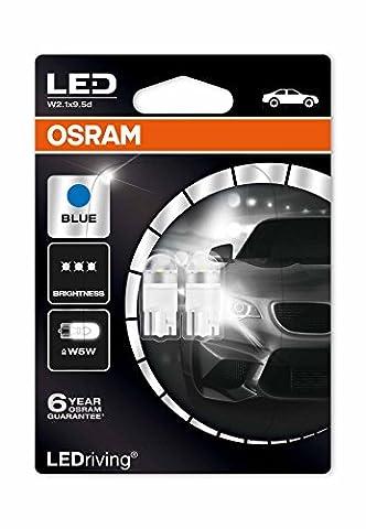 Osram 2850BL-02B LED Premium Retrofit W2.1x9.5d, W5W, Interior Lights, Ice Blue, 12V, Double Blister (Pack of 2)