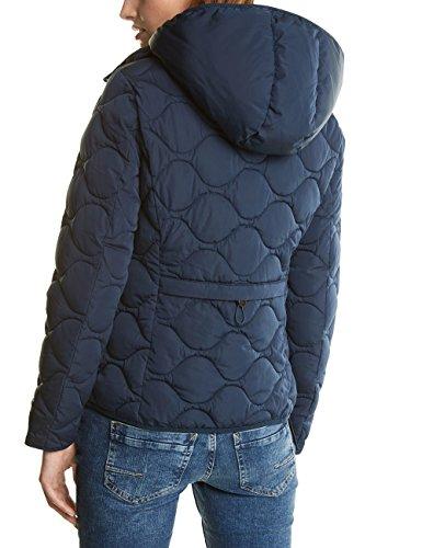 Street One Ojp_diamant Stitched Jacket Dupont Sorona Down Touch, Giacca Donna Blau (Night Blue 10109)