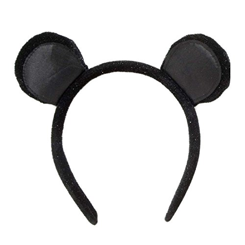 NET TOYS Mausohren am Haarreif Mäuschen Ohren SAMT Maus Tierohren Minnie Mouse Haarreifen Tier Mäuseohren Mäuschen Kopfschmuck Kostüm ()