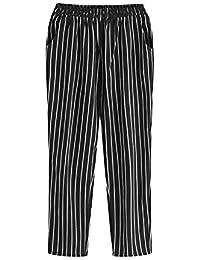 Cikuso Donna Casual Elastico in vita Pantaloni a righe Donna Pantaloni alla  caviglia Pantaloni a forma 7be3ab596ef3