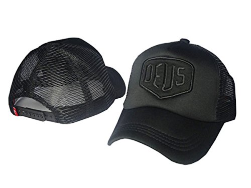 Deus Unisex Cotton Hats Adjustable Peaked Cap Black 2 One Size