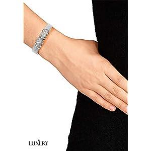 LUXERY Charms Anhänger Buchstabe Individuelle Charm austauschbar für Edelstahl Armband Damen Schmuck selber gestalten Mesh Silber Schmuck Frauen