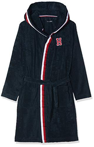 Tommy hilfiger bathrobe, vestaglia bambino, rosa (navy blazer 416), 122 (taglia produttore: medium)