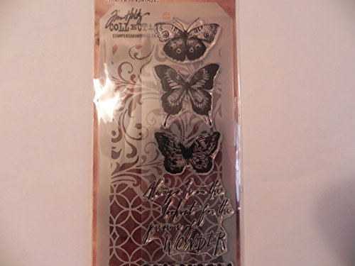 Tim Holtz Stamper's Anonymous Collection Stamp & Stencil - Papllion by Tim Holtz -