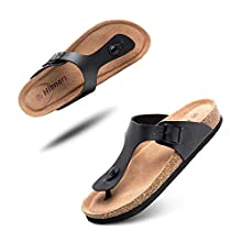 Mens Womens Sandals Summer Flip Flops Flat Casual Beach Shoes Slip On Lightweight Slippers Comfortable Soft Footbed Silver Blue Black White Brown Unisex Size 3-12 UK Black 10