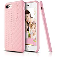 Custodia iPhone 7, LOHASIC Premium [Liquid Silicone Rubber] antiurto [Silky finiture soft-touch] Back Cover per iPhone 7, rosa di bambino