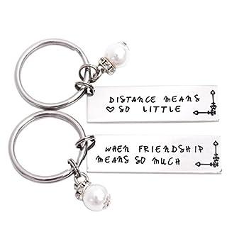 LParkin Abstand Bedeutet so Wenig, Wenn Freundschaft Bedeutet so Viel Schlüsselanhänger Set Lang Distance Best Friend