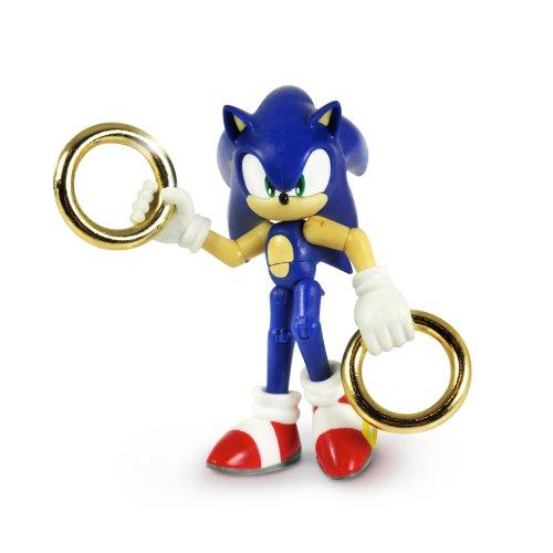 Sonic the Hedgehog Zoll-Sonic und Gold Ringe Action Figur (blau) (Igel Ein Knuckles Ist)