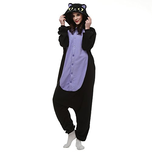 VU Roul Unisex Erwachsene Kostüme Kigurumi Einteiler Cosplay Gr. Small, Midnight Cat
