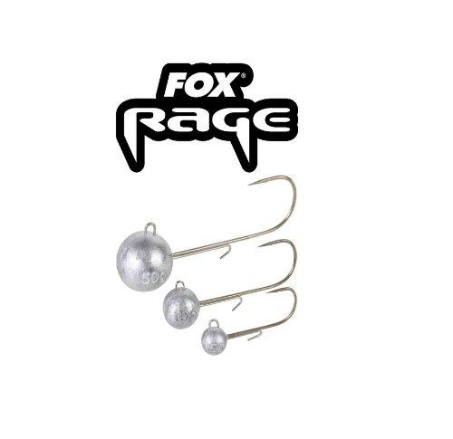 Fox Rage Jigköpfe Round Jigs Jighaken, Jigkopf für Gummifische, verschiedene Größen & Gewichte zur Auswahl, Kunstköder Gr. 1, 1/0, 2/0, 3/0, 4/0, 5/0, 6/0, Größe:10g / Gr. 3/0