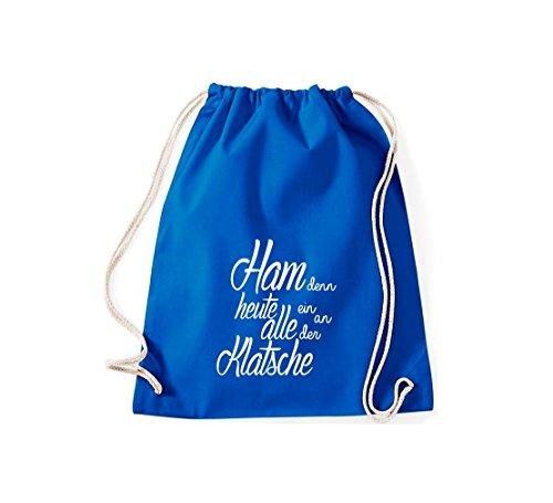 Shirtstown Gymsac iconica motto: ham perché oggi tutti ein sulla Clap - bianco, 37 cm x 46 cm Royal