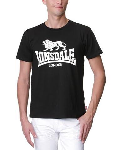 Lonsdale Logo - T-Shirt Sportswear - Homme, Noir (Black), FR: XX-Large (taille fabricant: XX-Large)