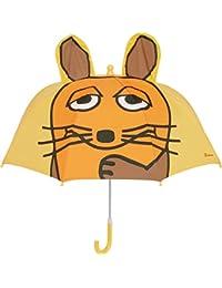 Playshoes DIE MAUS Kinder Regenschirm, Paraguas para Niñas