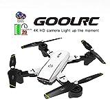 Leslaur Drone RC GoolRC SG700-D FPV avec caméra 4K HD Grand Angle Positionnement du Flux Optique Suivez-Moi Quadricoptère avec Maintien de l'altitude