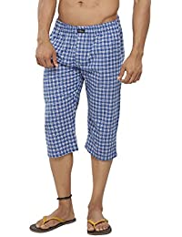Clifton Mens Woven Capri -Blue/WhiteChecks - B01GVI537O