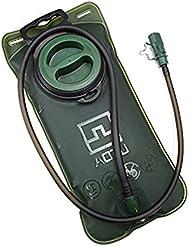 JTENG Vejiaga Bolsa de Agua de Hidratación para Ciclismo Deporte Senderismo Campaña Escalada Bicicleta 2L Verde de Ejército Portable