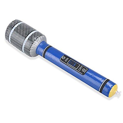 Goods & Gadgets Aufblasbares Mikrofon Party Karneval 33cm Mikro aufblasbar