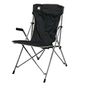 10T Slimboy XL Campingstuhl mit gepolsterten Armlehnen, stabiler Klappstuhl kompakter Gartenstuhl klappbarer Hochlehner bequemer Angelstuhl inkl. Packsack