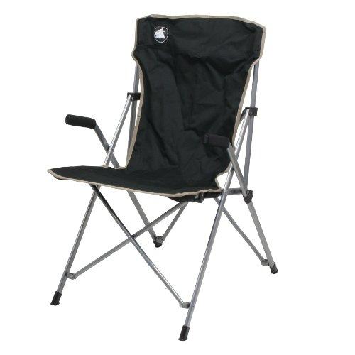 10T Outdoor Equipment 10T Slimboy XL Campingstuhl mit gepolsterten Armlehnen, stabiler Klappstuhl kompakter Gartenstuhl klappbarer Hochlehner bequemer Angelstuhl inkl. Packsack