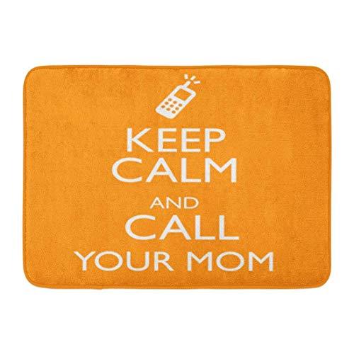 Wdskbg Custom Doormats Keep Calm Call Your Mom Throw