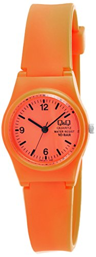 Q&Q Analog Orange Dial Women's Watch - VP47J017Y image