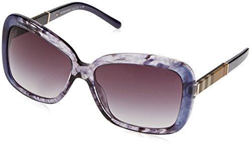 BURBERRY Damen 0BE4173 36138G 58 Sonnenbrille, Blau (Bluette Gradient Striped/Greygradient)