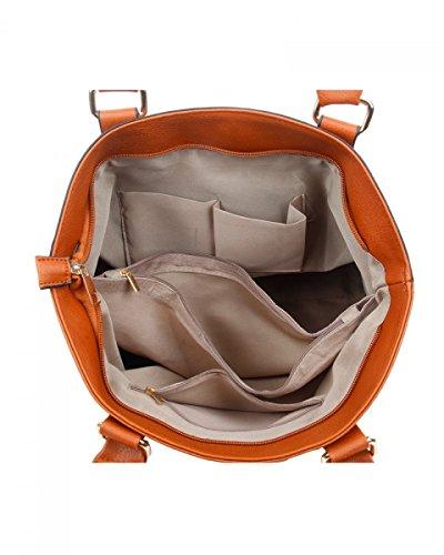 LeahWard Frauen weiche leichte Schulter Handtaschen Qualität Faux Leder Handtaschen für Frauen Für die Schule CW14106 (Perle Schultertasche) M.Pearl Fronttasche Umhängetasche