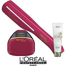 Steampod Edition limitée Red Obsessed L'Oréal - Fer à lisser nouvelle génération + Soin cheveux épais (prise française)