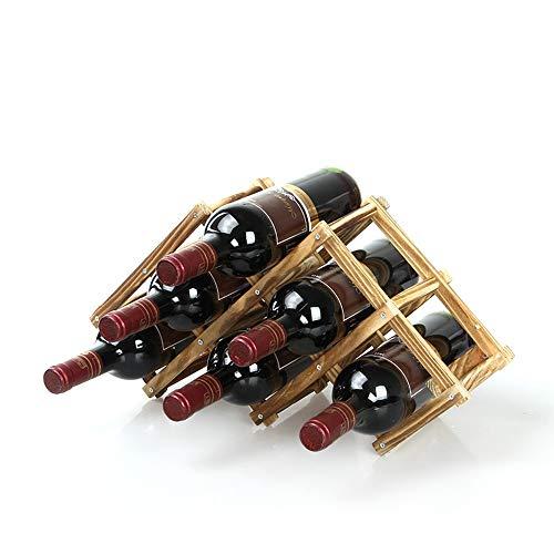 ReedG Weinregal-Verkaufsregal Tabletop Weinregal Wein-Halter-Speicher Stand Mit Stilvollem Design Ideal for Wohnkultur Bar (Farbe : 6, Größe : Free Size)