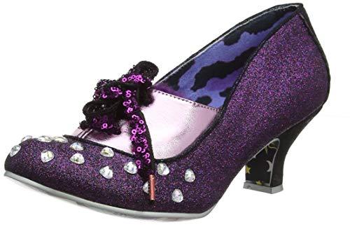 IRRA4|#Irregular Choice Haverhill, Zapatos de tacón con Punta Cerrada para Mujer, Purple C, 6.5 EU