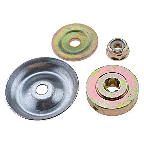 Create Idear 4Pcs Universal Lawnmower Gearbox Metal Blade Plate With M10 Nut Fixing Tool Kit