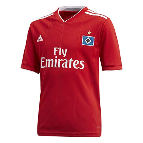 adidas Jungen Hamburger SV Away Kurzarm Trikot, Scarlet/White, 140
