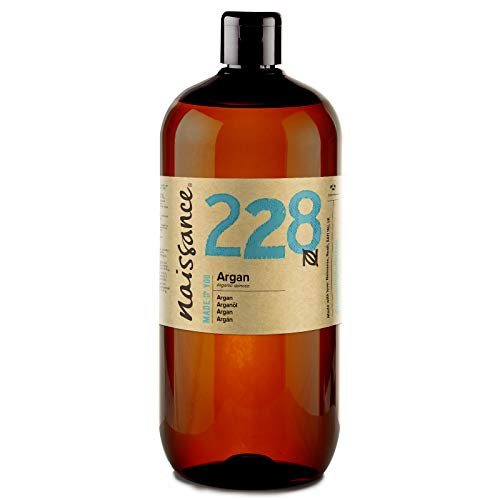 Naissance Huile d'Argan du Maroc (n° 228) - 1 litre - 100% pure et naturelle, végane, sans hexane et sans OGM - anti-âge et antioxydante