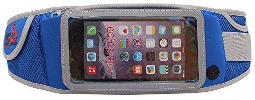 Sport Hüfttasche von Sports Drob - Running Belt zum Verstauen von 5 Zoll Handys (Iphone 6), Schlüssel & Geld - Ideal zum Joggen, Wandern & Reisen (Blau) -
