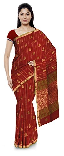 Jamil Kota Doria Sarees Cotton Saree (Wh009_Red)