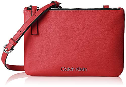 Calvin Klein Damen Ck Must Ew Crossbody Umhängetasche, Rot (Lipstick Red), 1x10x23 cm
