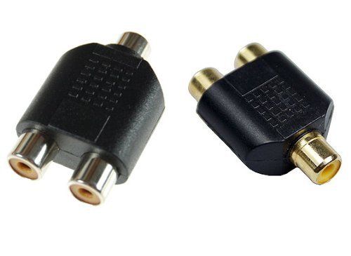 PC Arena Phono-Splitter (Single Female RCA-Phono zu Double Female RCA) - Double Female Adapter