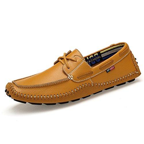 Espadrille homme mocassin conduit voiture nubuck basses chaussure bateau léger chukka shoes jaune lacet