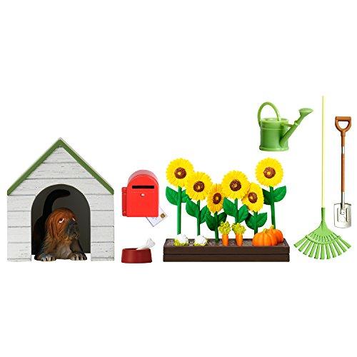 Lundby 60.5090.00 - Gartenset und Hundhütte, Minipuppen mit Zubehör