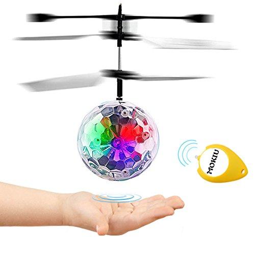 Ball, Mini Flugzeug Hubschruber mit LED Leuchtung Infrarot Flying Ball Für Junge Mädchen Induktionshubschrauber Ball als Geschenk Handsensor Spielzeug Indoor und Outdoor ()