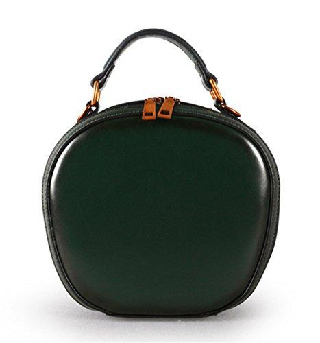 7ffa7c9cda8fb Xinmaoyuan Damen Handtaschen Leder Tasche Vintage Handtasche Single  Schulter Lady Kleine runde Tasche