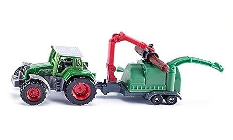 Siku 1675 - Traktor mit Holzhäcksler Fahrzeuge