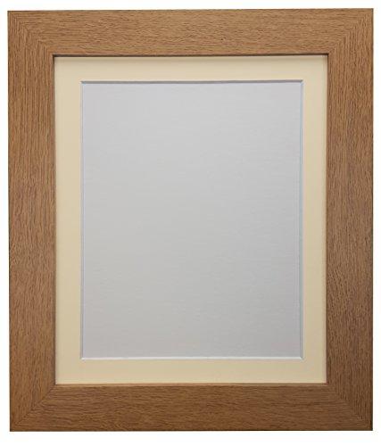 """Frames By Post """"London Eiche Bild"""" Foto Poster Rahmen mit elfenbeinfarbenem Passepartout 14x 27,9cm für Bild Größe 10x 20,3cm, Eiche mit elfenbeinfarbenem Passepartout, 39x 15mm"""