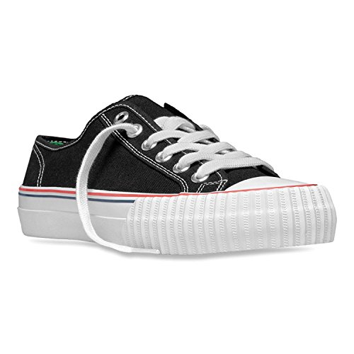 PF Flyers Men's Core Lo Black Canvas Athletic Shoe (Canvas-flyer)