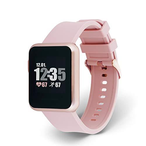 X-WATCH 54045 Keto Sun Reflect - Reloj Inteligente para Fitness, pulsómetro, IP68, Resistente al Agua...