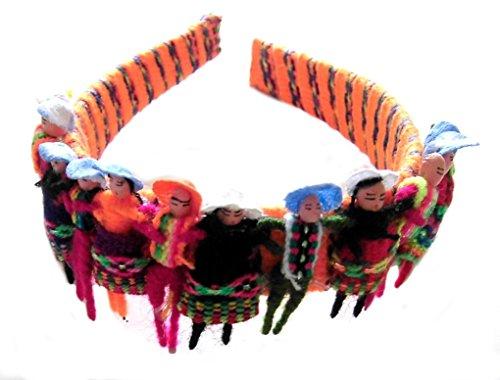 Alpacaandmore Mädchen Haarreif 12 Peruanische Trachten Püppchen Handgemacht (Peruanische Tracht)