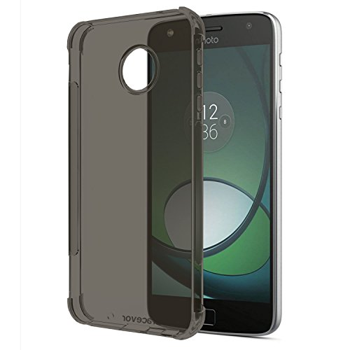 Bracevor Flexible Shockproof TPU Moto Z Play Back Case Cover | Ultimate Edge Protection | Cushioned Edges | Anti Slip | Premium Design - Grey