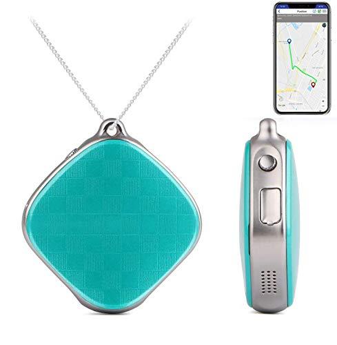 AYBB Collar Colgante de posicionamiento Inteligente, rastreadores GPS Botón SOS Llamada de Emergencia...