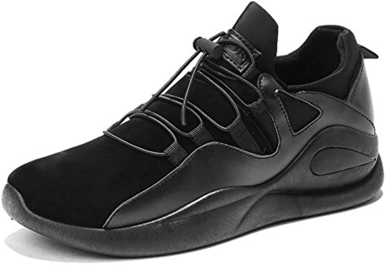 MMM Zapatos Zapatillas Para Hombre Spring/Fall Comfort Microfibre Athletic Flat HeelBlack Walking  -